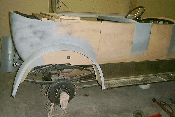 Stanley Body Restoration - Priming The Car